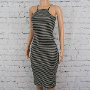 American Apparel striped midi dress